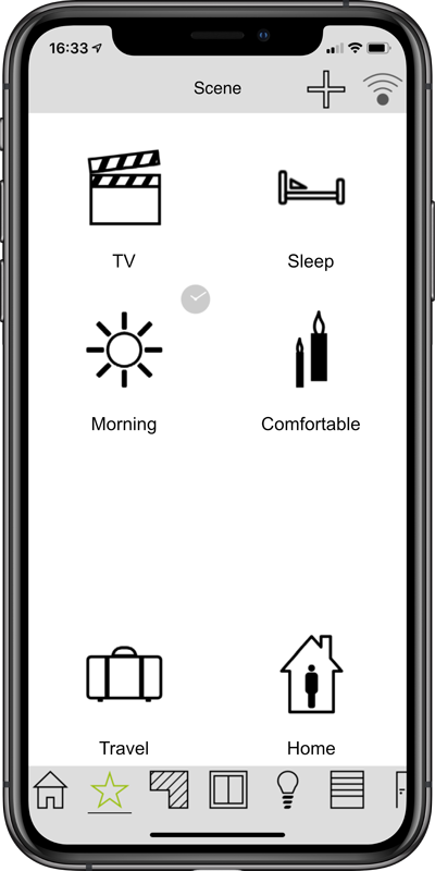 frogblue HomeApp on the smartphone